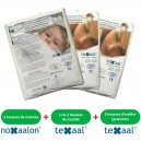 Mixed set of Noxaalon® and Texaal® dust mite covers for double bed with two mattresses