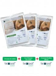 Parure de housses anti-acariens Texaal® Coton pour literie double avec 2 matelas