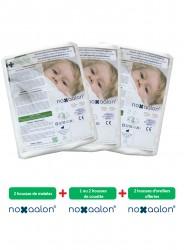 Parure de housses anti-acariens Noxaalon® en Evolon® pour literie double avec 2 matelas