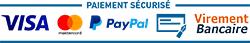 Paiement sécurisé : carte bleue, paypal, chèque, virement bancaire.